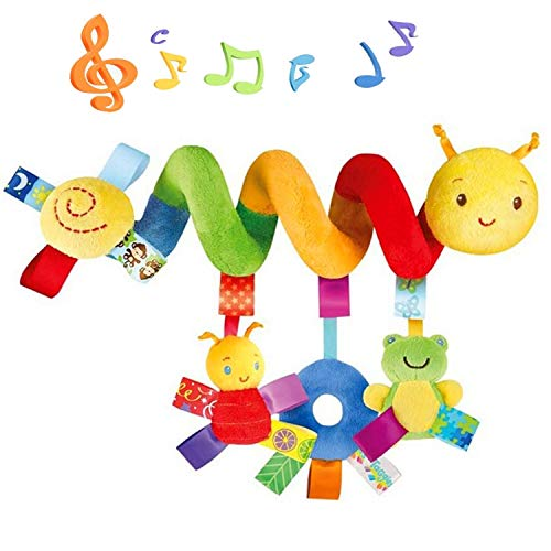 Comius Sharp Spirale Bett Kinderwagen Spielzeug, Mobile Baby Kinder Twisty Spirale Cartoon Spielzeug Geschenke,Kleinkind Baby Aktivität pädagogische Plüschtier Plüschtier. (bunt)