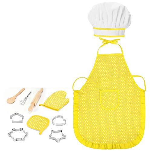 #N/V 11pcs de los niños de regalo de cocina suministros de hornear niños juguetes de cocina niñas cocinero utensilios de cocina traje encantador herramientas de hornear
