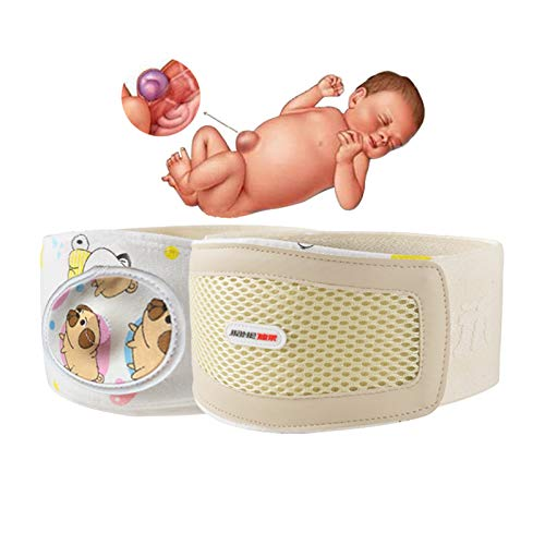 Umbilical Hernia Truss Baby Belly Band Infant Kids Navel Hernia Belt Newborn Belly Button Bands Abdominal Hernia Binder Adjustable Support Wrap -Medium