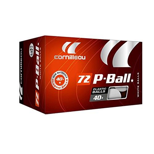 Cornilleau Unisex Ittf Poly-Tischtennisbälle (72Stück), weiß, Einheitsgröße