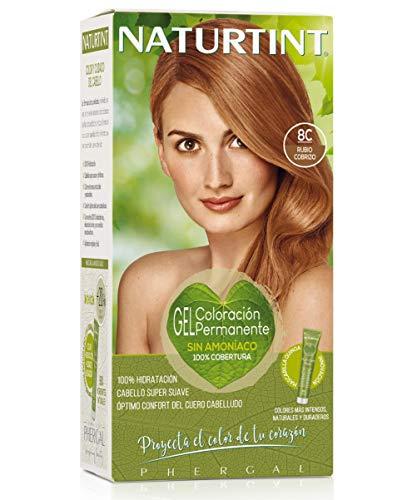 Naturtint | Haarfarbe Oohne Ammoniak |Hoher Anteil an natürlichen Inhaltsstoffen | 8C. Kupferblond | 170ml