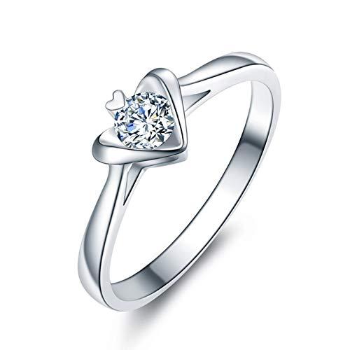 Aartoil Mujer oro blanco 18 quilates (750) redonda White Diamond