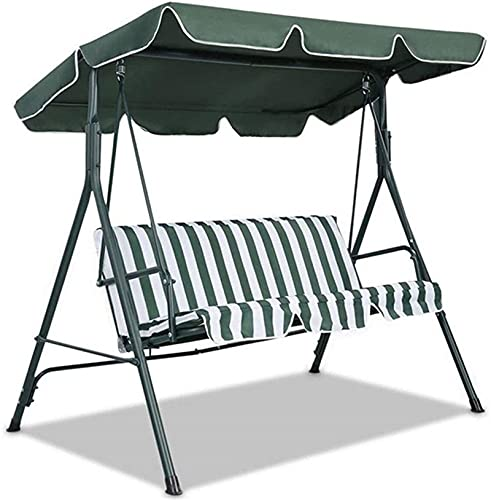 MTHDD Patio Swing Canopy Replacement Accessories, Replaceable Swing Top Cover, Outdoor Swing Waterproof Dustproof Cover,Grün,142 * 120 * 15CM