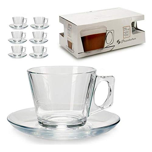 Piece Coffee Cup Set Glass (6 Pieces)