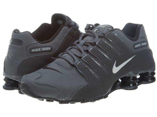 Nike Mens Shox NZ Dark Grey Leather Trainers 41 EU
