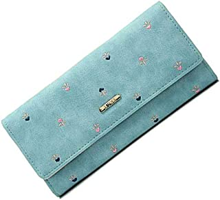 Victory Royal Women's Pink Pu Leather Wallets Clutches Ladies Purses Color Blue