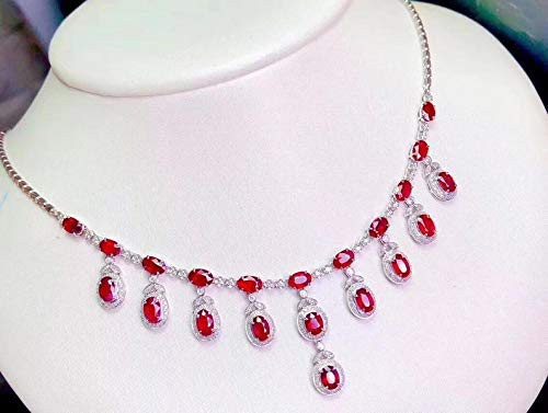 New Orleans Mall Bombing free shipping Natural Ruby Necklace Wedding Pendant Jewelry