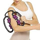 Rodillos de masaje de piernas FitRoll Pro Masaje Celulitis Becerro Rodillo muscular para terneros Brazos Codos de tenis para el dolor muscular Rigidez después del ejercicio (negro) (Color : Purple)