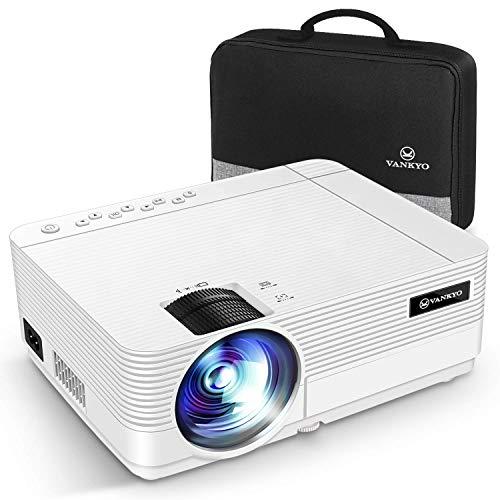 """VANKYO Proiettore 720P, Videoproiettore Display da 250"""" HiFi Speaker, 2 Porte HDMI, con Borsa Portatile, Design Compatto per iOS/Android TV Stick Home Cinema Regalo, Leisure 470C"""