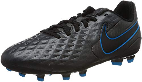 Nike Legend 8 Academy Fg/MG, Football Shoe, Black/Black-Blue Hero, 33 EU
