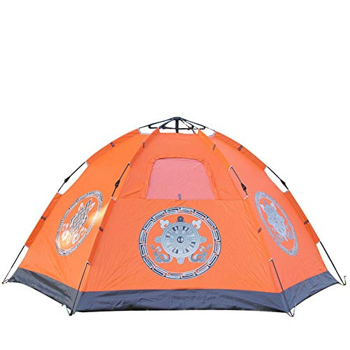 ZoSiP Outdoor Camp Folding Tent Outdoor Camping Camping Family Equipment 4-6 People Automatic National Wind Eight Treasure Map Tent (Color : White, Size : 240x240x135cm)