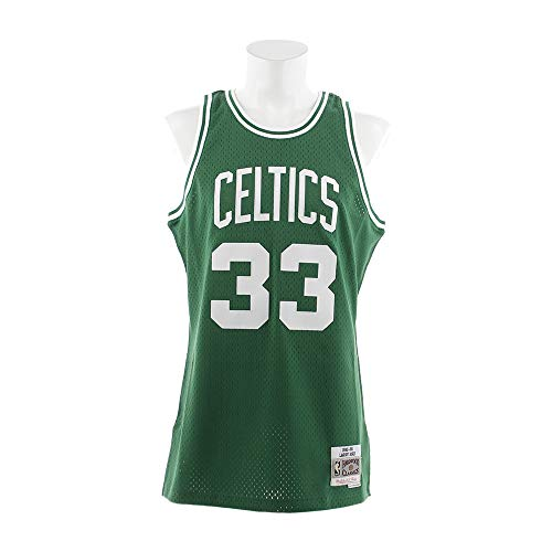 Larry Bird Boston Celtics Mitchell and Ness Men's Green Throwback Jesey Large
