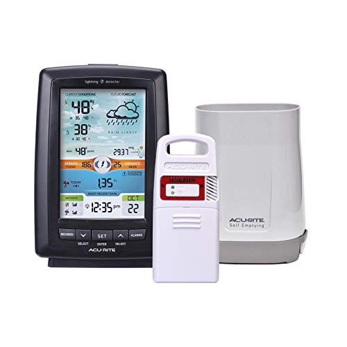 AcuRite 01021M Color Weather Station with Rain Gauge and Lightning Detector