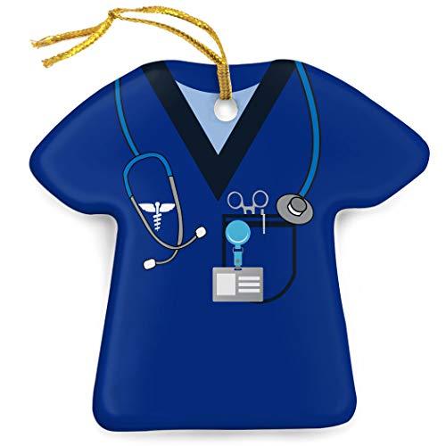 ChalkTalkSPORTS Profession Porcelain Ornament | Medical Services | Nurse Scrubs | Navy