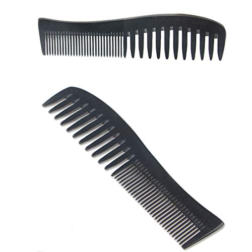 Herramientas de corte de cabello Peine de madera hecho a mano - Anti-caspa, no estático y respetuoso con el medio ambiente - Muy adecuado para la salud del cabello y cuero cabelludo Dientes finos y an
