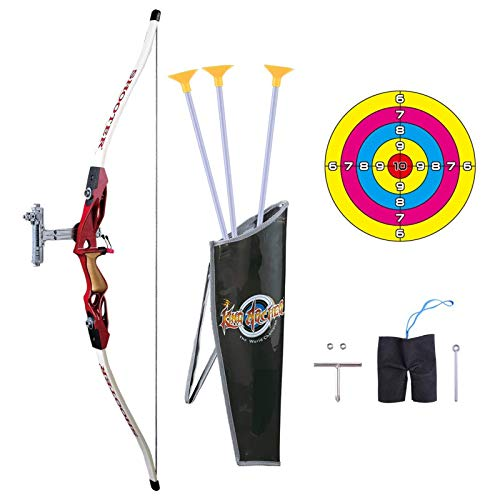 Pickwoo Juego de Arco y Flecha Archery 1/1.8 Arco para niños, Juego de Juego de Arco y Flecha para niños y niñas, Juego de Tiro con Arco para Principiantes con Objetivo, Arco de Caza para niños