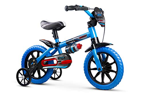 Bicicleta Infantil Aro 12 Com Rodinhas Menino Veloz - Nathor