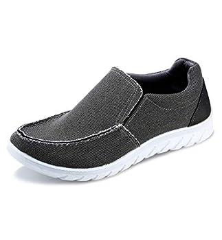 iloveSIA Men s Casual Slip-on Walking Loafer Shoes Mesh Walking Sneakers Deep Grey US Size 8.5