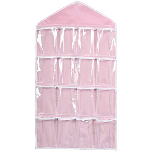 FOReverweihuajz Multifunctionele 16-Pocket Deur Terug Hangende Tas - Sokken BH Ondergoed Hanger Opslag Organizer