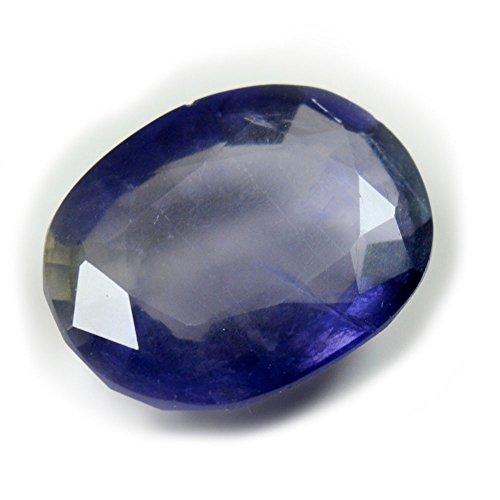 55Carat Piedra preciosa natural de iolita suelta facetada de 2 quilates de forma ovalada Chakra curación de la piedra natal precio al por mayor AAA+