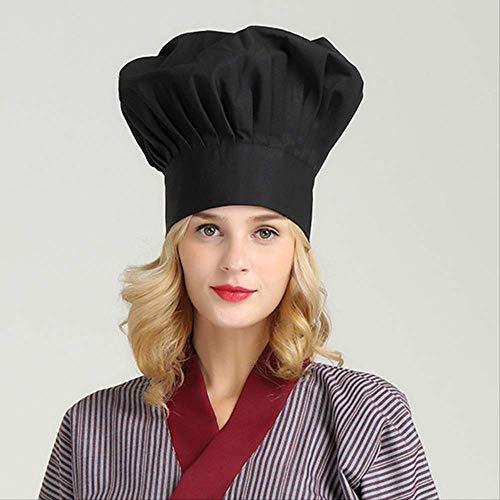 FHFF Koksmuts, wit, keuken, café, restaurant Bbq keuken hoed heren werk muts managermuts stof één maat zwart