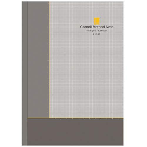 学研ステイフル ノート コーネルメソッド 5mm 方眼 B5 3冊セット D06902 グレー