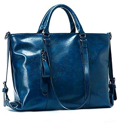 Leather Tote Bag for Women, Vintage Style Leather Top-Handle Bags Tote Shoulder Bag Handbag Crossbody Bag