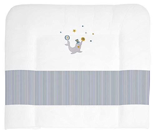 SONNE 125586 Matelas à langer avec housse en tissu Bleu 85 x 75 cm