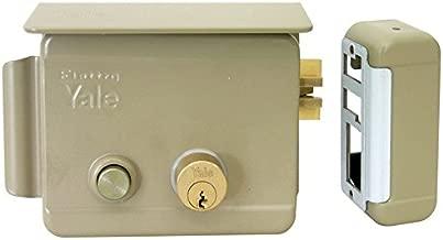 Cerradura el/éctrica de sobreponer para puertas Art con cierre a la izquierda 680/con pestillo azionabile retra/ído externo y retra/ído interno tramite Llave