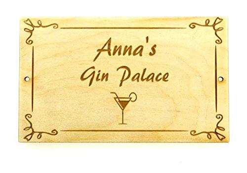 Placa personalizada Gin Palace regalo perfecto regalo amigos familia diseño hecho a mano de madera