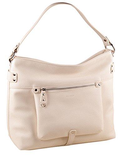 PICARD Loire 2254 Tasche Damen Beuteltasche Handtasche 33x29x14 cm (BxHxT), Farbe:Weiss