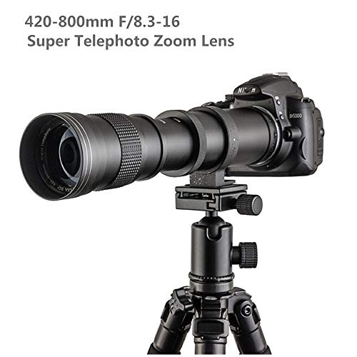 Lente teleobjetivo de zoom manual de 420-800 mm f/8.3 +...
