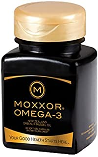 MOXXOR Omega-3 (60 Count, 1 Bottle) Omega-3 Supplement 100% from New Zealand – Greenlip Mussel Oil Natural Anti-Inflammatory, GMO Free