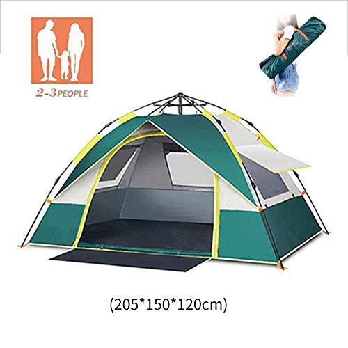 Extérieur Étanche Tente escamotable hydraulique UV Tente de Vacances Dome 2-3 Homme Automatique Pliable Tente de Soleil familiale pour Le Camping Pique-Nique de pêche au Jardin extérieur