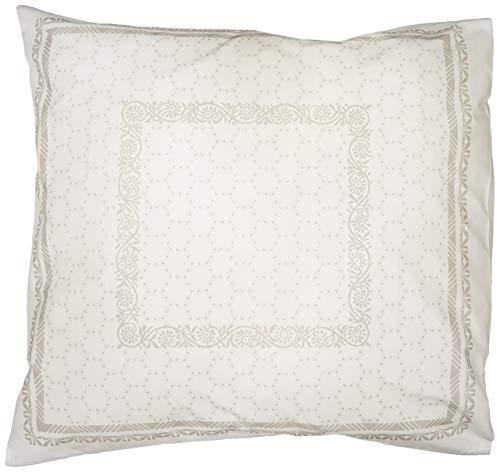 Essix Taie d'oreiller, Coton, Argent, 65x65 cm