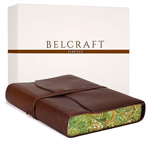 Venezia Romantica A5 mittelgroßes Notizbuch aus Leder, Tagebuch, Geschenkschachtel inklusive, A5 (15x21 cm) Braun