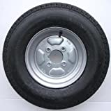 leisure MART 500 x 10 inch trailer wheel and tyre with 6 ply tyre and 4 inch PCD Pt no. LMX265
