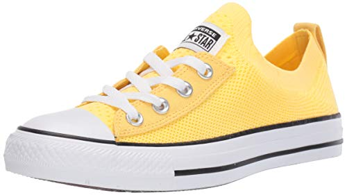 Converse Women's Chuck Taylor All Star Shoreline Knit Slip On Sneaker, Butter Yellow/White/Black, 9.5 M US