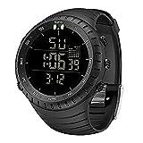 Mens Watches,Waterproof Military Outdoor Sport Watch Men Fashion LED Digital Electronic Wristwatch Black,Wrist Watches for Men Women