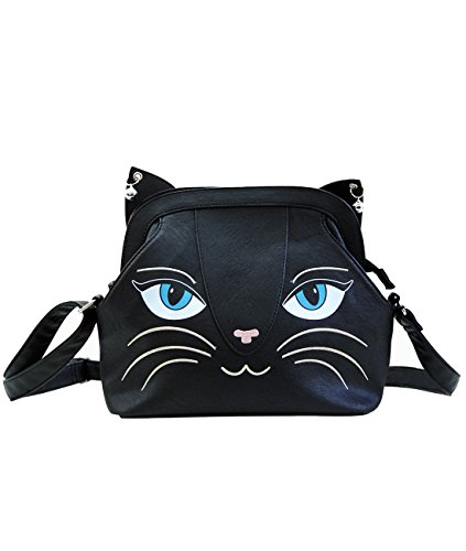 Banned Damen Handtasche - Cat Bells Groß Umhängetasche