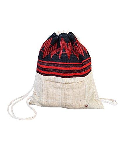 Borsa giocosa e stile hippie della virblatt, fatta in canapa 100% e con cinturini per facilitare il trasporto - Erfrischend