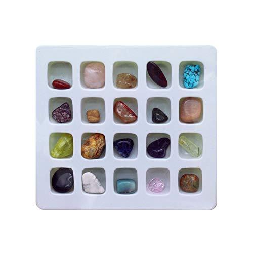 Magic show Natürliches Edelstein-Sammlungs-Set - 20 Verschiedene Mineralproben(10 Werktage Lieferung)