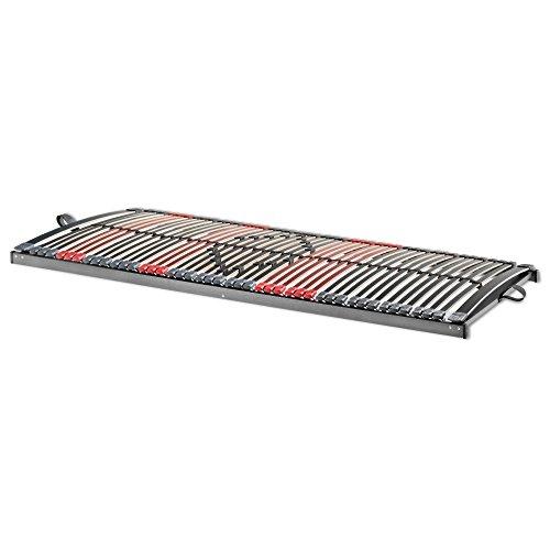 Betten ABC 7-Zonen Lattenrost Max Premium NV / Lattenrahmen in 80 x 200 cm mit 44 Leisten und Mittelzonenverstellung - geeignet für alle Matratzen