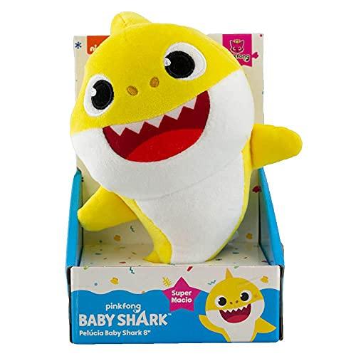 BABY SHARK PELÚCIA DE 20CM - SUNNY (Amarelo)