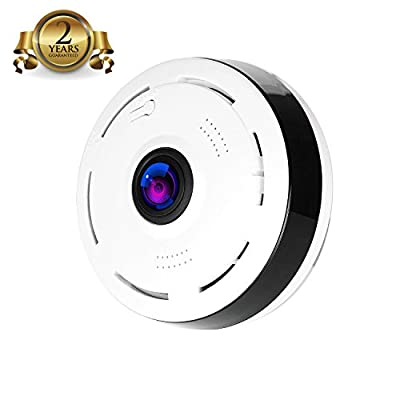 Camera 360 Degree Panoramic Fisheye Camera 3D Wireless Wifi Security Camera Outdoor Super Wide Angle Support IR Night Motion Detection Keep Home Safe