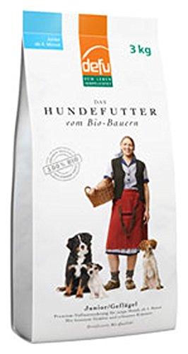 defu 4er-Set Bio Hundefutter Junior 3kg