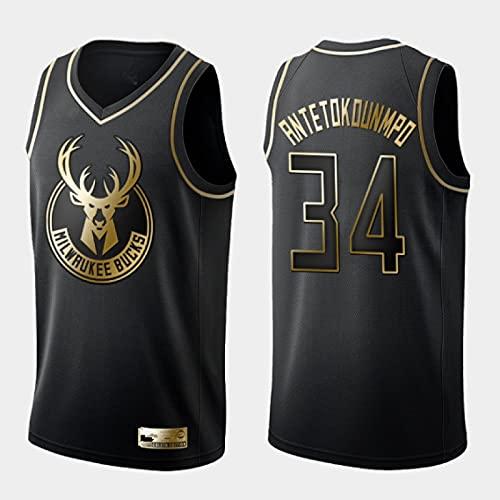 HGFHDF Jersey de Baloncesto para Hombres-Lakers 23-Warriors 30 Jersey de Oro Negro, Camiseta de Baloncesto de Malla Bordada, 100% poliéster(Negro 34,XXL)