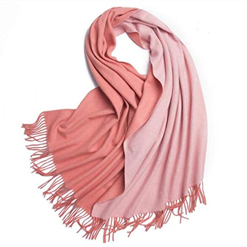 Scarf Wormen Winter75% Wool Scarf 310G Heavy Cashmere Double-Sided Shawl-D-03_200*70Cm