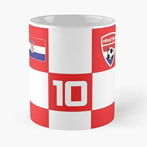 Croatia Soccer Jersey Shirt Football Classic Mug -11 Oz Coffee - Funny Sophisticated Design Great Gifts White-situen.