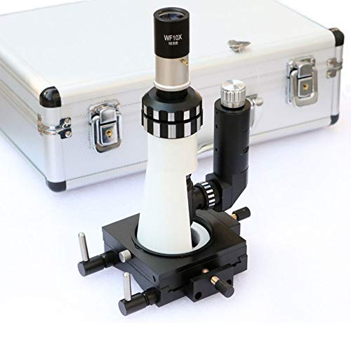 RONGW JKUNYU Microscopio Equipo de polarización de microscopio de luz de Mano Microscopio metalográfico portátil con polarizador de Base magnética